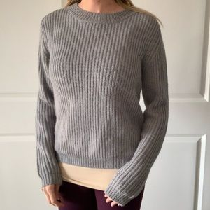 Manoush gray sweater with shoulder detail